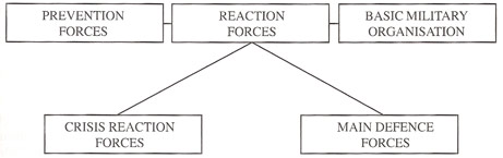 Prevention Forces, Reacion Forces, Basic Military Organisation