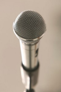 microphone for speaking services